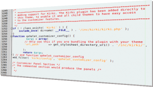 Kirki Code Screenshot